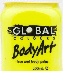 FLOURO YELLOW - FACE & BODY PAINT- 200ml Jar