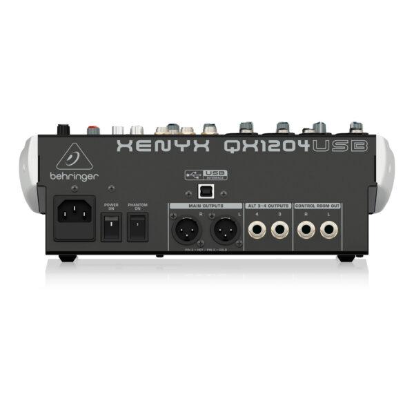 QX1204USB : Premium 12-Input 2/2-Bus Mixer with XENYX Mic Preamps & Compressors, Klark Teknik Multi-FX Processor, Wireless Option and USB/Audio Interface