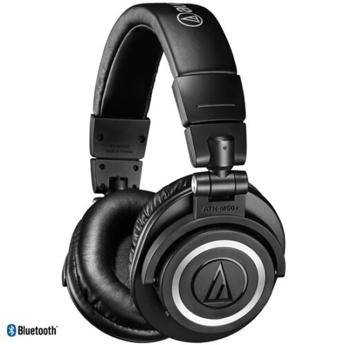 Audio Technica ATH M50xBT Studio Headphones w/ Bluetooth (Black)