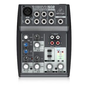 Behringer Xenyx 502 6 input analogue audio mixer
