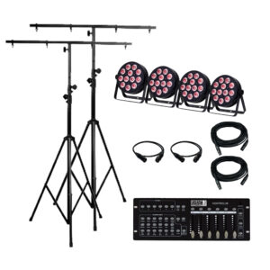 4x Lights, 2 Stands and Controller