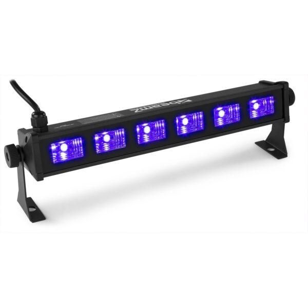 Beamz BUV63 UV LED BAR With 6 X 3W UV LEDs