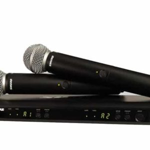 SHURE BLX288SM58 M17 DUAL WIRELESS HANDHELD MICROPHONE SYSTEM