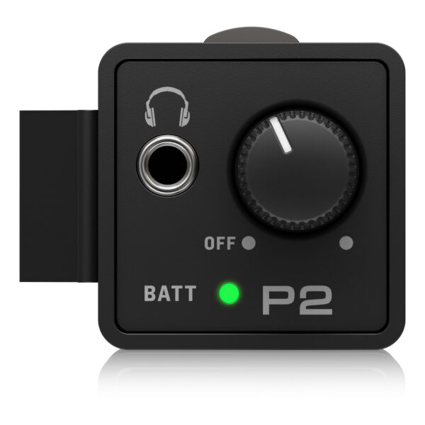 """P2 : Product Features Show more POWERPLAY P2 POWERPLAY P2 Whether you're a keyboardist, drummer, or other musician whose performance keeps them anchored in one spot, the P2 Ultra-Compact Personal In-Ear Monitor Amplifier was designed specifically for you. A convenient hard-wired personal in-ear control center, the P2's belt pack puts monitor control right at your fingertips, plus it's powerful, lightweight and ultra-easy to use. 3.5 mm Phones Jack 3.5 mm Phones Jack You can use your favorite headphones, earbuds or custom-molded professional InEar Monitors (IEMs) with the P2, thanks to the top-mounted, standard 3.5 mm (1/8"""") stereo output jack. Locking XLR / TRS Input Locking XLR / TRS Input Because your monitor is crucial to your performance, P2's XLR / TRS combo input connector features a locking mechanism to prevent accidental mic cable disconnects. Just press the tab next to the bottom-mounted connector to release the cable at the end of the gig. It is important to note that P2's XLR input accepts balanced line signals taken directly from your mixer, allowing you to control the volume of the onboard amplifier. Show more Sweetwater Thomann Amazon cosmo andertons Product Library Documentation Media P2 P0CH4 Front"""