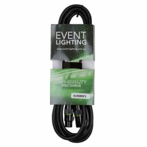 Event Lighting XLR5M5F3 3 metre 5 pin DMX lead