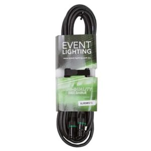 Event lighting XLR5M5F5 XLR 5 pin DMX cable 5 metres