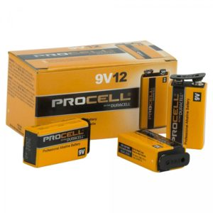Duracell PC1604 Procell 9V Battery Bulk Pack – 12 Pieces