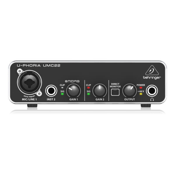 UMC22 : Audiophile 2x2 USB Audio Interface with Midas Mic Preamplifier