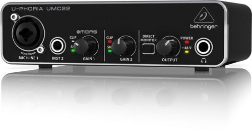 Behringer U-Phoria UMC22 – USB Audio Interface