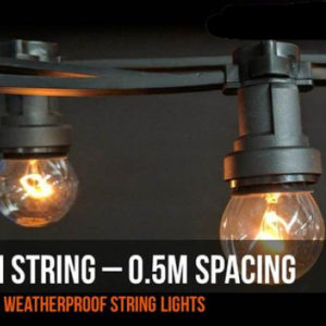 20m festoons 50cm spacing