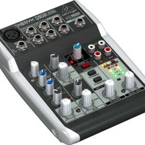 Behringer Q502USB PA Mixer 5 Channel
