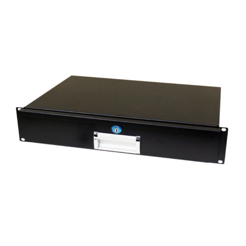 2RU short drawer for rack case to store mics, leads or equpment
