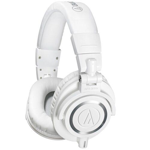 Audio Technica ATH M50x Studio Headphones (White)