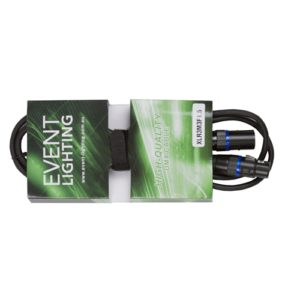 1.5 metres Event Lighting XLR3M3F1.5  3-pin  DMX Cable