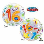 Qualtex 56cm Foil 16th Birthday Helium Balloon