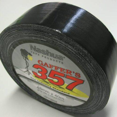 NASHUA 357 50mm x 40m GAFFER TAPE - BLACK