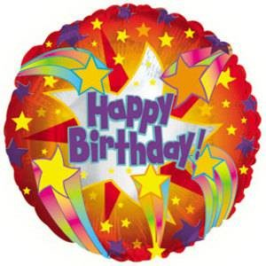 CTI 45cm Foil Happy Birthday Helium Balloon