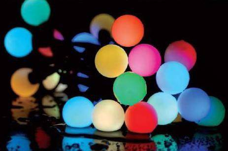 10 metres of 100 RGB Colour changing Fairy Lights - White Wire