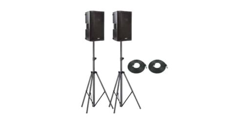 QSC K10.2 Pack 1 with Stands and Leads