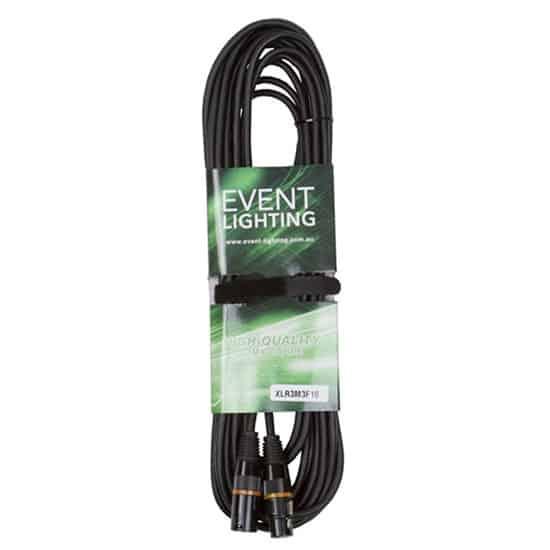 10 metres Event Lighting XLR3M3F10 3-pin  DMX Cable