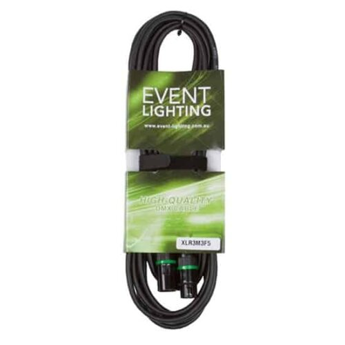 5 metres Event Lighting XLR3M3F5 3-pin  DMX Cable