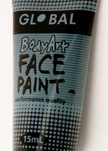 BLACK - FACE & BODY PAINT - 15ml Tube