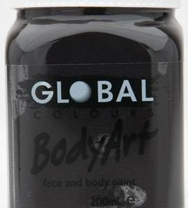 BLACK - FACE & BODY PAINT - 200ml Jar