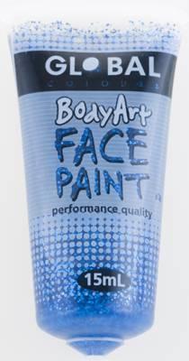 BLUE GLITTER - FACE & BODY PAINT - 15ml Tube