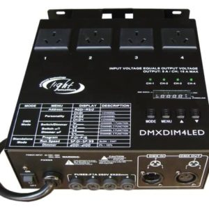 Light Emotion DMXDIM4LED 4 chan DMX dimmer / Switch Pack / Chase