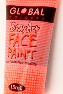 FLOURO ORANGE - FACE & BODY PAINT - 15ml Tube
