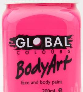 FLOURO PINK - FACE & BODY PAINT - 200ml Jar