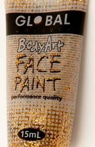 GOLD GLITTER - FACE & BODY PAINT - 15ml Tube