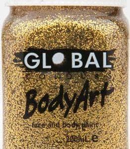 GOLD GLITTER - FACE & BODY PAINT - 200ml Jar