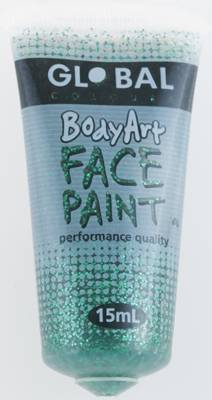 GREEN GLITTER - FACE & BODY PAINT - 15ml Tube