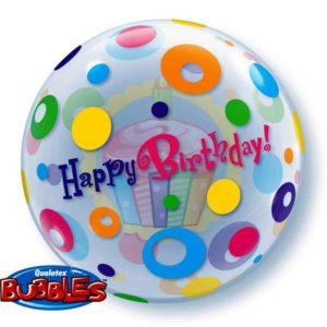 Qualtex 56cm Foil Happy Birthday Helium Balloon