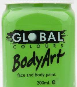 LIGHT GREEN - FACE & BODY PAINT - 200ml Jar