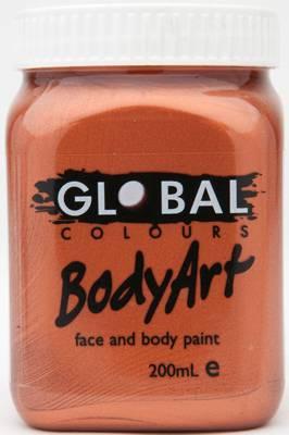 METALLIC COPPER - FACE & BODY PAINT - 200ml Jar