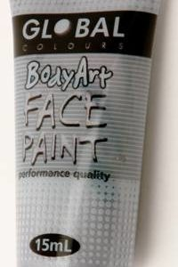 METALLIC SILVER - FACE & BODY PAINT - 15ml Tube
