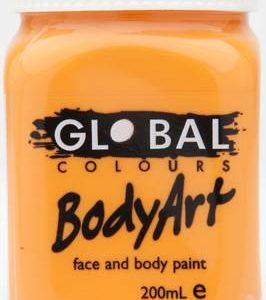 ORANGE - FACE & BODY PAINT - 200ml Jar