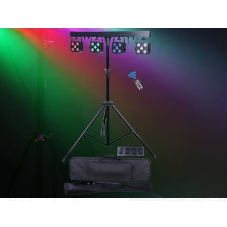 Light Emotion PARBAR4QUAD 4 X 5x4in1 RGBW Cans with Remotes