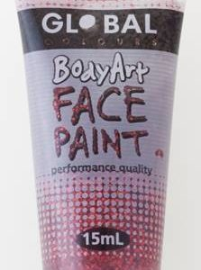 RED GLITTER - FACE & BODY PAINT - 15ml Tube