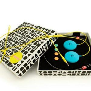 AIAIAI Tracks Headphones with Mic (blue/yellow) WAS $79 - New