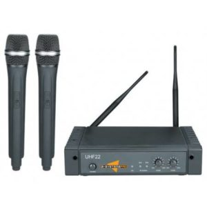 ESP TECHNOLOGY UHF22 Dual Wireless System with 2 Hand Held Mics