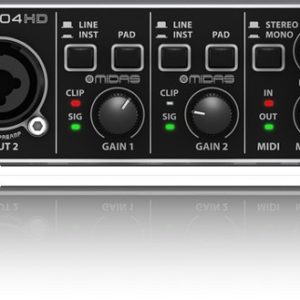 Behringer U-Phoria UMC204HD 2 x 4 Audio Interface