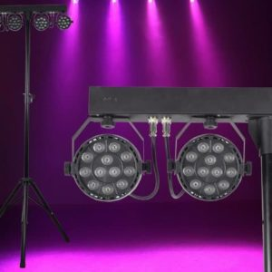 Light Emotion VIVIDBAR 4 X Vivid0312 lights + Stand & Remote