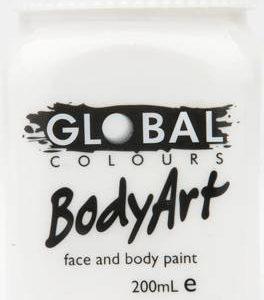 WHITE - FACE & BODY PAINT - 200ml Jar