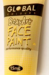 YELLOW - FACE & BODY PAINT - 15ml Tube