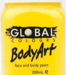 YELLOW - FACE & BODY PAINT - 200ml Jar